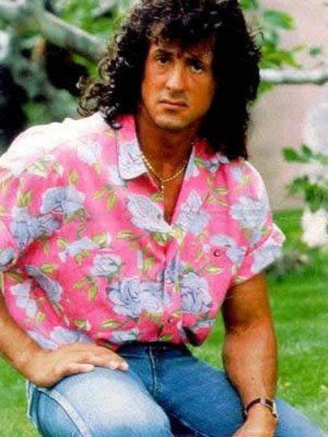 """Dokonce i hvězdný Sylvester Stallone dokázal v módě pěkně """"ujet"""""""