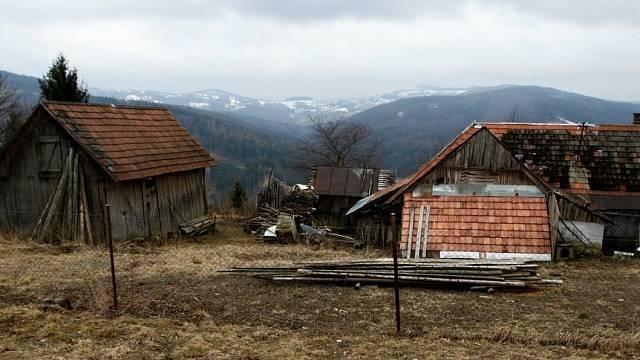Chalupy v obci Žítková