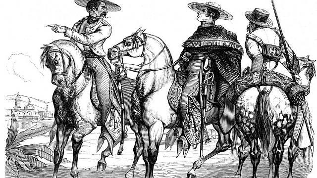 Generál Santa Anna se svými druhy