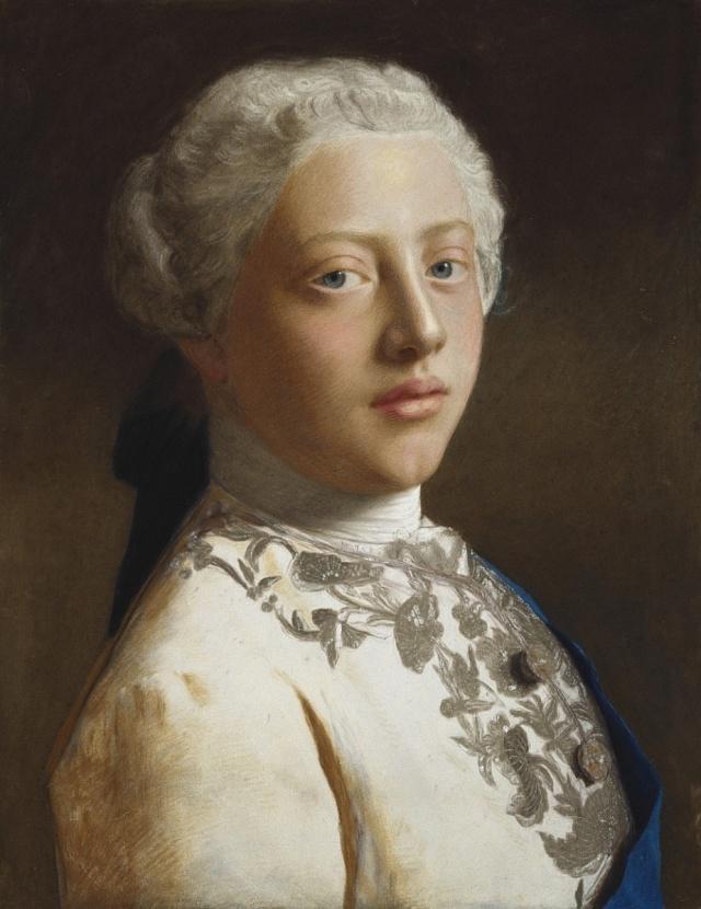 Budoucí král Jiří vr. 1754, autor malby: Jean-Étienne Liotard