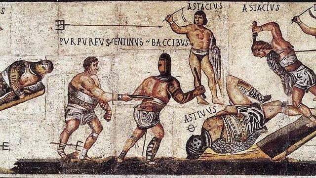 Mozaika s výjevem gladiátorských zápasů, Itálie