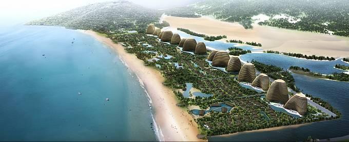 MEGA PROJEKT BUDOUCNOSTI. Tuto kategorii ovládl Mui Dinh Ecopark rozkládající se na 728 hektarech na východním pobřeží Vietnamu. Zahrnuje šest hotelových resortů, 500 vil i zábavní parky.