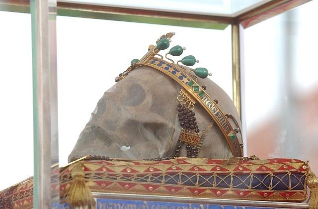 Lebka sv. Václava skorunou