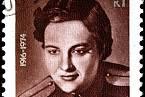 Ljudmila Pavličenko na dobové známce