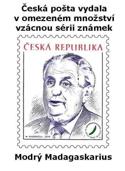 """Miloš Zeman aneb """"Modrý Madagaskarius"""""""