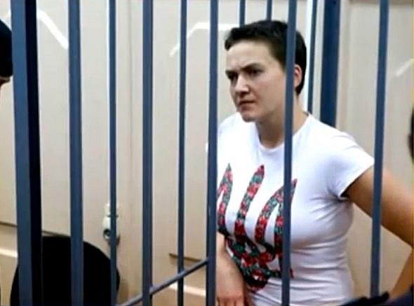 Savčenková vlistopadu 2014při soudním líčení vMoskvě