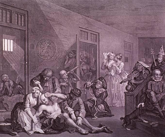 Hoghartovo vnímání psychicky nemocných, dílo nazval po slavné londýnské nemocnici Bedlam