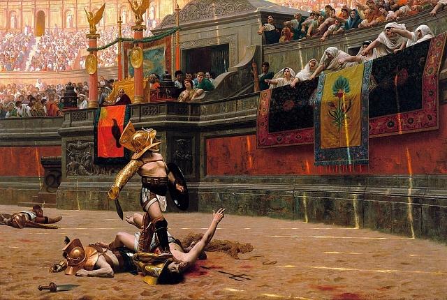 Život gladiátorů byl přísný iustolu, kde také vládla disciplína