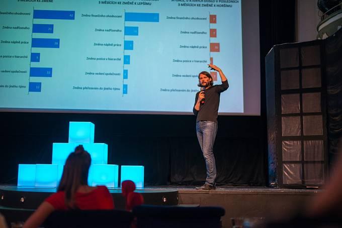Tomáš Dombrovský prezentuje manažerům trendy v zaměstnanosti