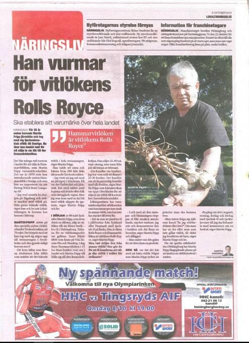 Pro švédské noviny je Martin Fripp i se svým česnekem známý pojem