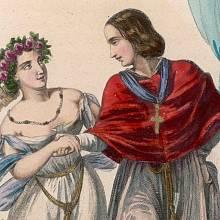 Papež Jan XII. se svou milenkou (kresba z r. 1840)