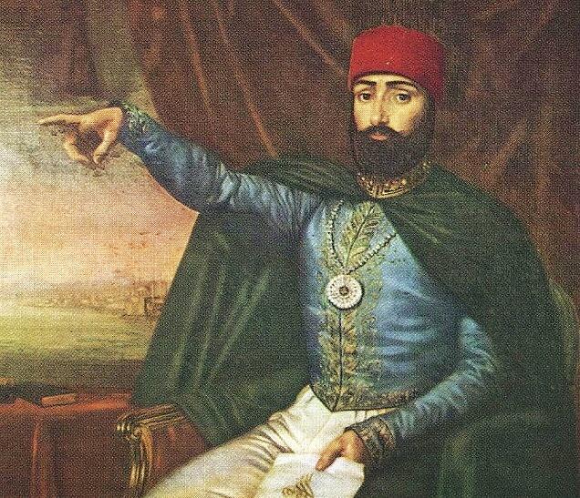 Oficiální portrét sultána Mahmuta II.