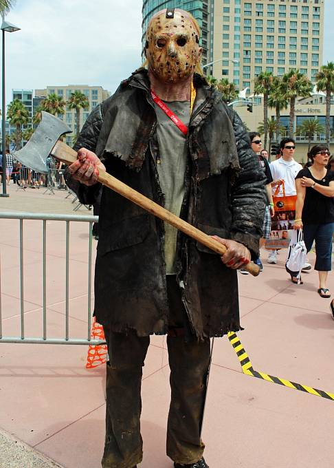 Jeden z fanoušků americké hry Friday The 13th.