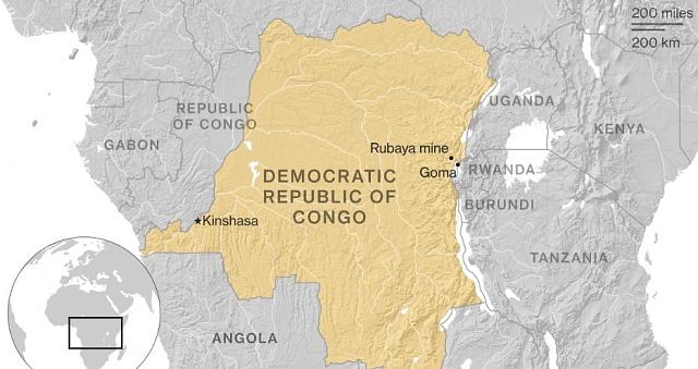 Demokratická republika Kongo. Vletech 1971až 1997známá pod názvem Zair, je druhou největší zemí Afriky.