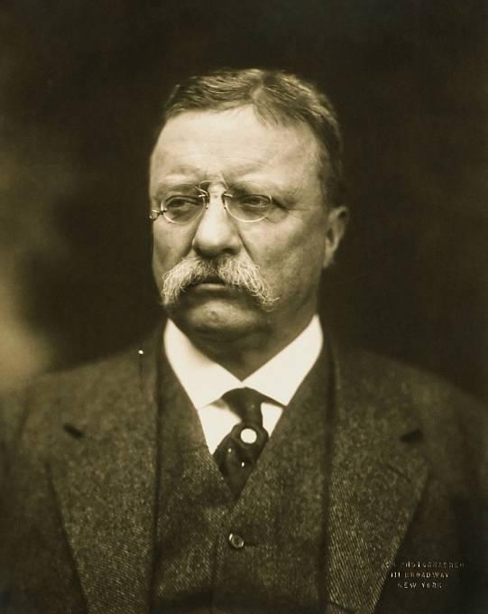 Theodore Roosevelt, jeden z amerických prezidentů, který pravidelně docházel na setkání Klubu třináct.