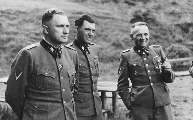 Richard Baer, Josef Mengele a Rudolf Höss