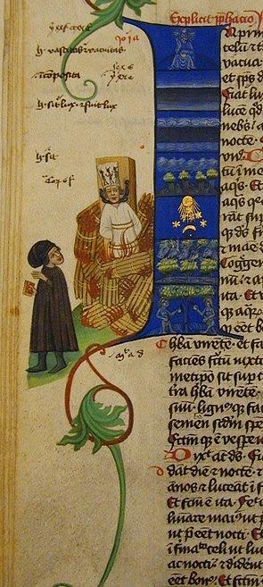 Nejstarším známým vyobrazením Jana Husa je iluminace vMartinické bibli z1. poloviny 15.století. Předpokládá se, že postava odcházejícího muže představuje Petra zMladoňovic, Husova žáka, autora podrobné zprávy oHusově upálení a objednatele rukopisu bi