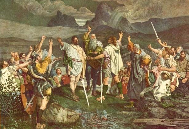 Za kolébku Švýcarska se považuje louka Rütli, kde se vroce 1291sešli zástupci kantonů Uri, Schwyz a Unterwalden a přísahou založili Švýcarské spříseženství. Od té doby až dodnes je Švýcarsko zemí smlouvy. Neboli služby a věrnosti společné myšlence.