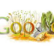 Doodle: Den stromů – první český doodle (říjen 2008)
