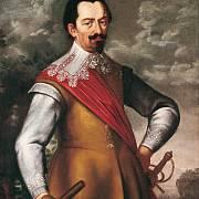 Portrét Albrechta z Valdštejna s Řádem zlatého rouna a maršálskou holí.