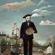 Henri Rousseau, Já, Portrét – Krajina, 1890, olej na plátně, Národní galerie v Praze