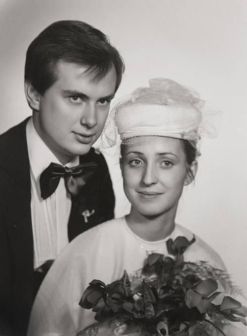 Manželé Strnadovi, svatební foto