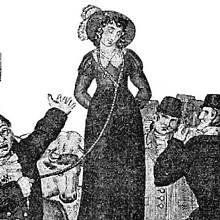 Dražba manželky na trhu v 19. století
