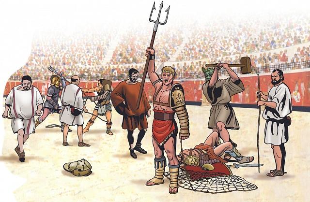 Gladiátoři byli rozděleni podle toho, sjakými zbraněmi bojovali