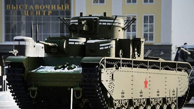 Replika sovětského tanku T-35