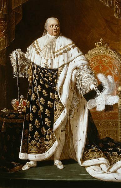 Ludvík XVIII. ve Francii navázal na královskou tradici přerušenou za Velké francouzské revoluce.