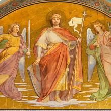 Sv. Václav na fresce v kostele Svatého Cyrila a Metoděje v Praze