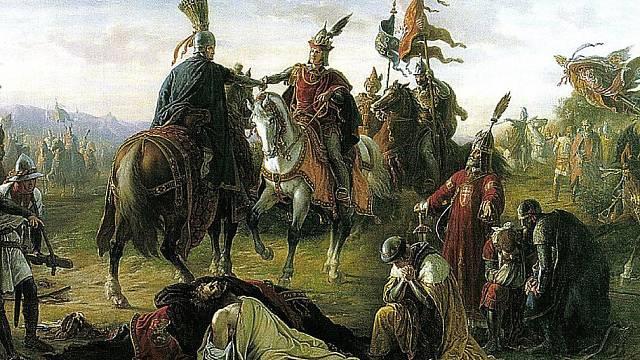 Setkání Rudolfa I. Habsburského a Ladislava IV. Kumána