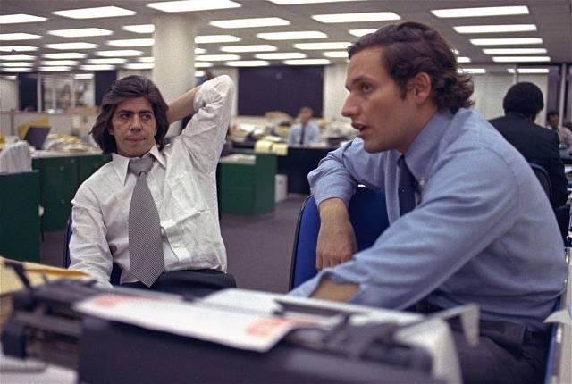 Bob Woodward (vlevo) a Carl Bernstein