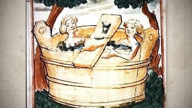 Koupel mohla být i společenskou záležitostí.