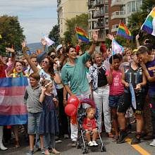 Kanadský premiér Justin Trudeau na Pride Parade ve Vancouveru.