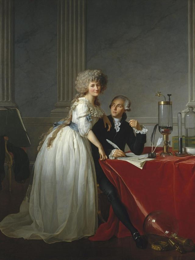 Portrét Antoina Lavoisiera a jeho ženy Marie Anne Pierrette Paulze