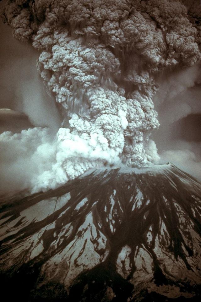 Erupce sopky na Hoře sv. Helena vkvětnu 1980