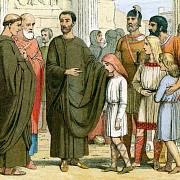 Papež Řehoř s anglickými otroky v Římě