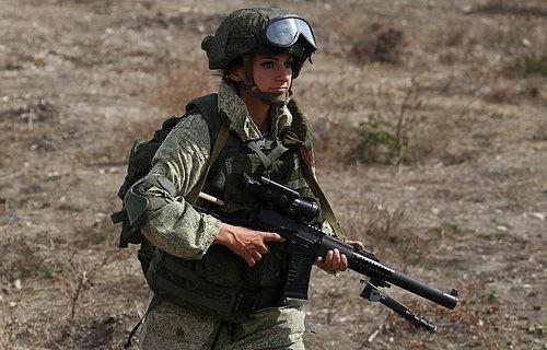 Ženské odstřelovačky jsou dodnes významnou částí ruské armády