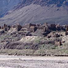 Afghánská vesnice zničená sovětskými vojsky