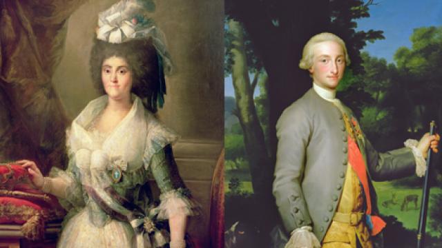 Marie Luisa Parmská a král Karel IV. Španělský