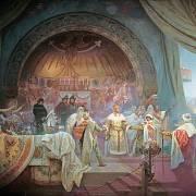 Přemysl Otakar II. na obraze Alfonse Muchy