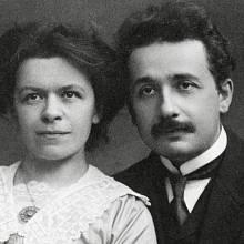 Albert Einstein s manželkou Milevou