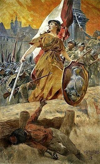 Alegorie vítězství vroce 1920od Zdzisława Jasińského