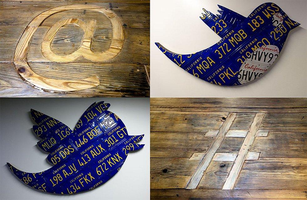 Logo a ikonické znaky sítě Twitter