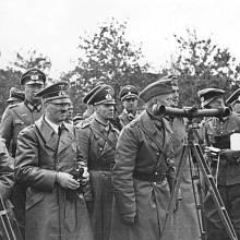 Erwin Rommel a nacistický vůdce Adolf Hitler 1. září 1939 během invaze do Polska