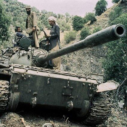 Tank Sovětské armády, Afghánistán, 1987
