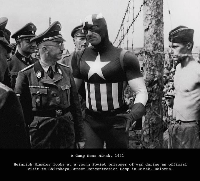 Minsk během druhé světové války aneb setkání Heinricha Himlera s komiksovým hrdinou
