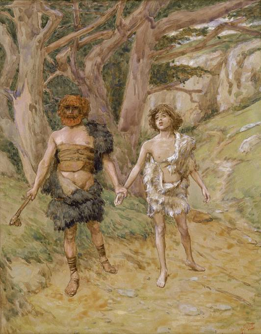 Kain a Ábel, podle Bible synové Adama a Evy. První zmíněný zabil druhého v pátek, proto je poslední pracovní den v týdnu často považován za smolný den.