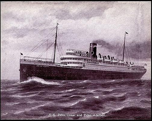 SS Prinz Adelbert: Fotografie ledovce, který potopil Titanic, a popis červené barvy poškrábané po jeho jedné straně vyšly najevo až po letech …